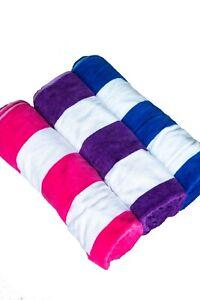 Beach Towels Giant Size Turkish 100% Cotton Luxury Stripe Velour Holiday