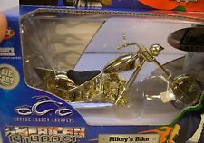 ERTL 1:18 SCALE DIECAST METAL ORANGE COUNTY CHOPPERS GOLD MIKEY'S MOTORCYCLE