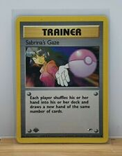 Sabrina's Gaze 1st Edition Non Holo Pokemon Card Gym Heroes 125/132 Light Play
