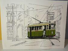 "Tramway ancien ""de la délivrance"", encre lavis…World FREE Shipping*"