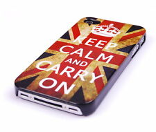 Custodia Protettiva F iPhone 4 4s 4g Custodia Case COVER INGHILTERRA GB UK keep Calm Carry On