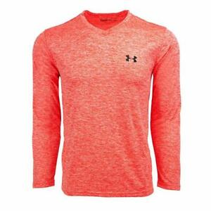 New With Tags Men's Under Armour Gym Muscle V neck Long Sleeve Tee Shirt Top UA