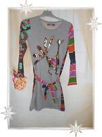 C - Robe Multicolore 27V3013 Mar de Plata Desigual  Taille 11 - 12  ans