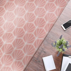 STRIPES HEXAGON PINK 15 X 17cm WALL/FLOOR TILES IN A PACK OF 50 TILES