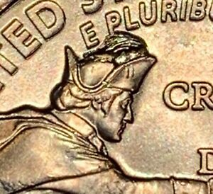 "2021-P 1/2 ""Crown"" Die Chip Error Washington Crossing The Delaware Quarter (733)"
