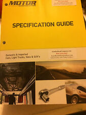 Motor Specification Guides - 19 Yrs of Specs - Via USPS Priority