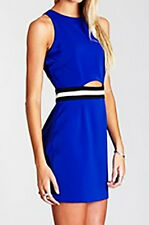 NWT Three Of Something Formal/Coctails Turning Point Dress Blue Size M (i21)