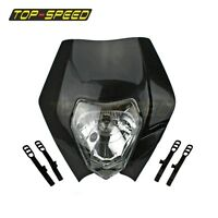 BLACK ENDURO MOTOCROSS ALIEN HEADLIGHT For Honda Suzuki KTM YAMAHA STREETFIGHTER