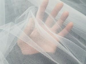 50 metres - 2 CLRS - SOFT TULLE MESH BRIDAL VEILING MATERIAL - 200/300cm wide*