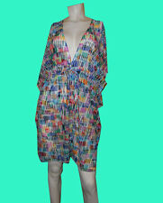 NWT GOTTEX PROFILE Spring Awakening SEE-THRU Bathing Suit COVER-UP DRESS - SMALL