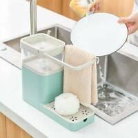 Multi-function Kitchen Combination Rack Soap Dispenser Shelf Towel Sponge E6H6