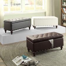 Leather Storage Benches | EBay