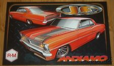"2015 JF Kustoms BASF ""Andiano"" '67 Pontiac Acadian Canso SEMA Show info card"
