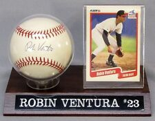 Robin Ventura Autographed Baseball with Fleer 550 Card Chicago White Sox