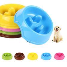 Pet Dog Cat Slow Feeder Water Bowl Puppy Anti Slip Choke Gulp Feed  Bloat  Dish