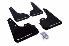 Rally Armor Black Mud Flap w/ White Logo For 2010+ Mazda3/Speed3