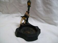 "Vintage Cast Iron Ashtray ""Drunk Man on a Lamp Post"""