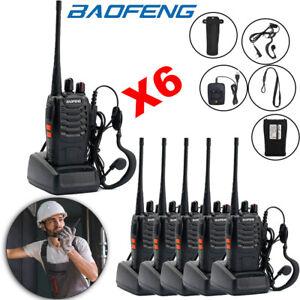 6X Baofeng Walkie Talkie 2-Way BF-888S Radio Long Range 16CH UHF 400-470MHZ Set