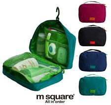 mSquare Travel Camping Toiletry Cosmetics Shaving Organizer Mesh Pouch Bag BK