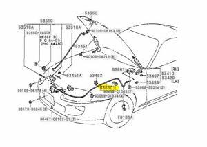 Toyota Genuine Supra JZA80 1993-1998 Hood Lock Release Control Cable 53630-14300