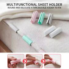 12PCS Bed Sheet Fastener Gripper Clip Mattress Cover Fastener Grip Peg Holder^