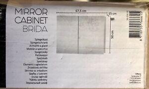 Spiegelschrank BRIDA von HORNBACH weiß 2-türig NEU + OVP