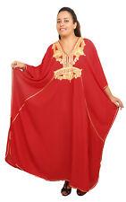 Plus size Caftan Moroccan Handmade Kaftan Women Beach Summer Dress Abaya Red