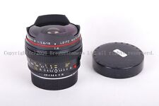 Ex++ Leica Elmarit-R 16mm F/2.8 Fisheye Lens with hood and built-in filter
