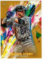 Trevor Story 2020 Topps Inception 5x7 Gold #41 /10 Rockies
