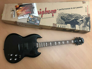E-Gitarre Epiphone Tony Iommi Signature Black