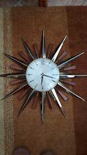 More details for vintage retro metamec sunburst wall clock