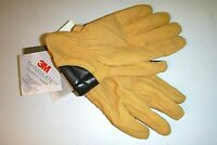Timberland mens 3M designer goat suede touch finger leather gloves sz:Sm -tan