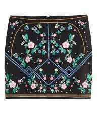 H&M DIVIDED Webstoff Minirock Rock Skirt Stiftrock Stiefelrock 40 US 10 UK 14