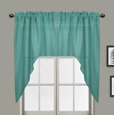"Aiking Home Semi-Sheer Swag Kitchen Curtain Valances (Set of 2) 28""x38"" / each"