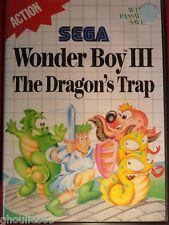 WONDER BOY III THE DRAGON'S TRAP SEGA MASTER SYSTEM WONDER BOY 3 MASTER SYSTEM