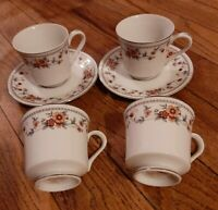 4  Sheffield Anniversary Porcelain Fine China 8 oz Tea Cups-Japan and 2 saucers