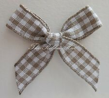 Handmade 10mm Gingham Bows, Packets of 10, 25, 50, and 100