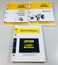 Service Manual Parts Catalog Set For John Deere 300 Jd300 Tractor Loader Backhoe