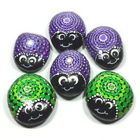 Hand Painted Rock, Mandala Bugs, 2 to 2.25 inch, Rock Painting, Your Choice