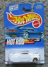Moc Hot Wheels 2000 1/64 Tail Dragger Lead Sled White Rod #3 26018