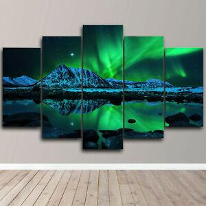 Northern Lights Aurora 5 Piece Canvas Wall Art Landscape Print Home Decor