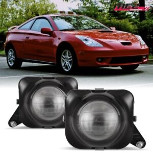For 2000-2005 Toyota Celica PAIR OE Style Fit Fog Light Bumper Clear Lens