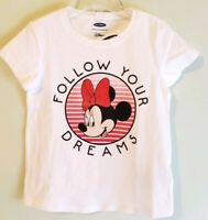 Old Navy Girls 12-18 MONTHS 2T Minnie Mickey Mouse Tee T-Shirt LUCKY CHARM