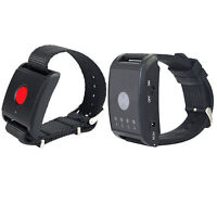 Wireless Restaurant Waiter Calling Pager System 1X Watch Receiver+1X Call Button