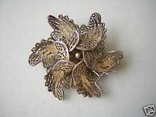 Antike Brosche mit echter Perle Geprüftes Silber/Teilvergoldet 5,9 g/ Ø 3,6 cm
