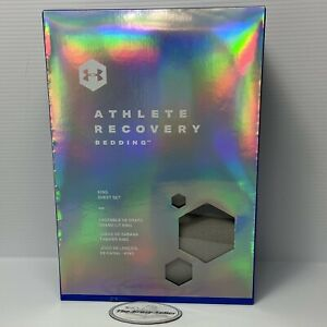 UNDER ARMOUR Athlete Recovery Bedding King Sheet Set Gray $250 Tom Brady Cool