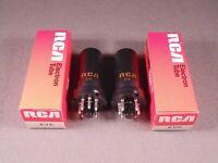 2 6V6 RCA Metal HiFi Radio Guitar Amp Vintage Vacuum Tubes Matching Codes DX NOS