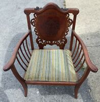 Vintage 1800's Carved Armchair / Chair
