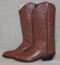 "Sheplers ""SCM7017"" Solid Tan Leather Slip On Western/Cowboy Boots Size 7"