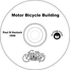 Motor Bicycle Building (1906) Vintage Book on CD